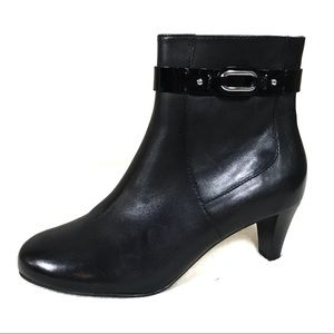 Cole Haan black leather ankle boots